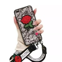 Softcase TPU 3D Relief Flower Cover Case Casing HP Oppo F5/Plus/Youth