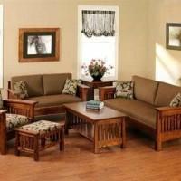Set kursi tamu sofa jati Minimalis untuk Ruang tamu, Ruang Keluarga
