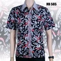 Kemeja Hem batik pria fashion pria baju batik kantor batik keris