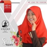 Kerudung Segi Empat Polos Rawis SAUDIA UMAMA Hijab Jilbab