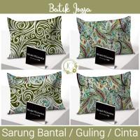 Sarung Bantal / Guling / Cinta Rivest motif Batik Jogja