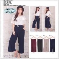 Celana Panjang Kulot Kerja Wanita Baju Korea Bangkok Import AB51142