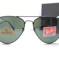 Kacamata Rayban Aviator Diamond Hard 3026 hitam lensa hijau botol