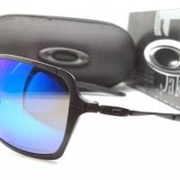 Kacamata Oakley Inmate frame hitam lensa biru polarized - sunglasses
