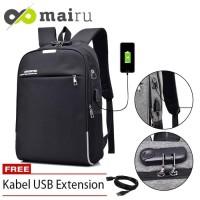 Tas Backpack Laptop DXYIZU With Lock Anti Maling USB Port BPL - Hitam