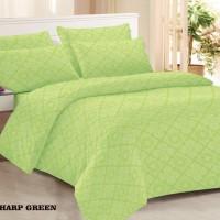 Clarin House Set Sprei dan Bedcover Emboss 120x200x30cm Sharp Green