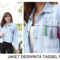 jaket jeans tasel rumbai denim levis tebal jacket baju wanita outer