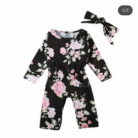 Jumper Baby Bunga dapat Bandana Import/Romper/Pakaian Bayi/Baju Baby