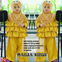 baju muslim anak ruffle tumpuk celana kulot blouse tunik cewek kids