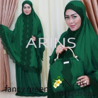 MUKENA NAJWA FANCY GREEN  ORI BY ARINS BALI