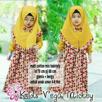 Hijab Mickey kid kuning
