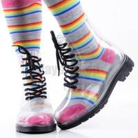 ON SALE!!! [Free Sock] BLACK Kids Jelly Boots Sz 32 Import Sepatu Anak