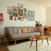 Sofa Ruang Tamu, Set Sofa Retro, Sofa Vintage, Sofa Minimalis (ST-01)