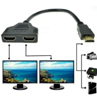 KABEL HDMI SPLITTER 2 PORT TANPA POWER / 1 INPUT KE 2 OUTPUT