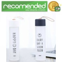 Remax Tumbler Botol Minum Kaca Smiley 330ml - RT-CUP39 - Hitam