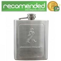 Stainless Steel Hip Flask 7 Oz - Silver - Johnnie Walker