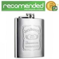 Stainless Steel Hip Flask 7 Oz - Silver - Jack Daniel