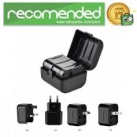 HOCO Universal Travel Socket Charger Power Adapter - AC1 - Hitam