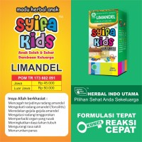 SYIFA KIDS LIMANDEL   MADU ANAK RADANG AMANDEL   100ml