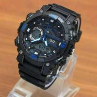 Terbaru Jam Tangan Original QQ Q Q GW87 Black Blue WR 10 BAR