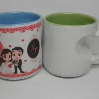 Cetak Mug Sablon Mug Gagang Love Two tone Murah