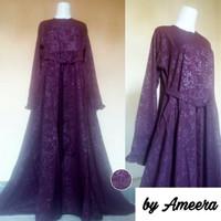 Promo Gamis Umbrella Emboss Wolfis Cantik Premium Beauty Ameera