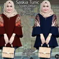 Atasan Blouse Tunik Balotelli Katun Batik HM63176L Saskiass fit XL