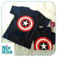 Jual Kaos Distro Katun Anak Karakter Captain America Keren Murah Murah