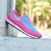 SALE Sepatu Sport Nike Free Jogging Pink Biru Kets Casual Wanita