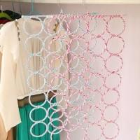 Baru Gantungan selendang syal hijab jilbab kerudung , hanger 28 ring