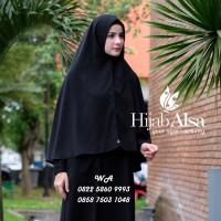 Jual Hijab Alsa Model Raisa Jilbab SyarI Instan Langsung Pakai Warna Hitam Murah