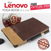 Lenovo Yoga Book 10.1 Inch - Oxford Dual Tone Leather Flip Case Cover