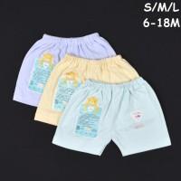 Baju & Sepatu Bayi Pakaian Unisex Libby 3 Pcs Celana Pendek Bayi/Baby
