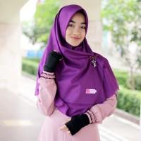 Hijab Syari Warna Ungu Terong Segi Empat Rawis Katun Ima Murah