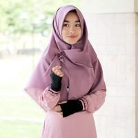 Hijab Syari Warna Ungu Purple Segi Empat Murah Rawis Katun Ima