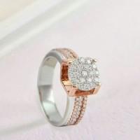 Cincin Emas Berlian Asli Eropa Putih Tunangan Kawin Pernikahan Murah