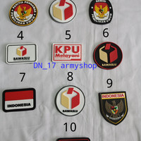 patch rubber/logo komisi pemilihan umum, panwaslu, kpu melayani