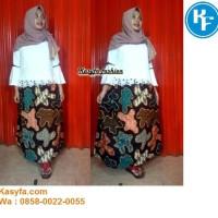 gaun kebaya modern kebaya brokat kombinasi batik katun
