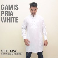 promo murah Baju Gamis Premium Pria Pakistan White Jubah Muslim Casua