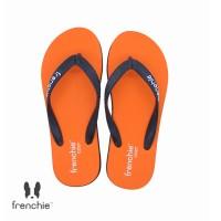 FRENCHIE Sandal Jepit Orange Black COZY SCM07