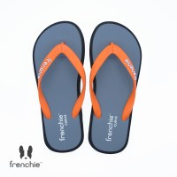 FRENCHIE Sandal Jepit Grey Black Orange CURVE SCV02