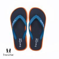 FRENCHIE Sandal Jepit Black Orange Turquoise CURVE SCV04