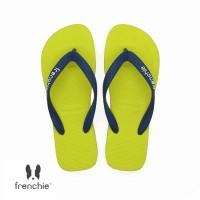 FRENCHIE Sandal Jepit Pria Navy Blue Yellow BOLD SBO06