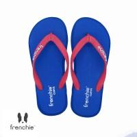 FRENCHIE Sandal Jepit Navy Blue Red CURVE SCV01