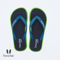 FRENCHIE Sandal Jepit Black Light Green CURVE SCV03