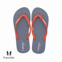 FRENCHIE Sandal Flip Flop Grey Orange COZY SCW03