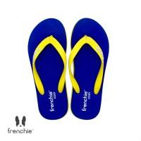 FRENCHIE Sandal Jepit Navy Blue Yellow COZY SCM02