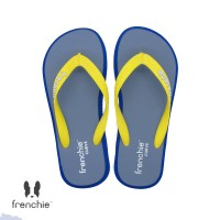 FRENCHIE Sandal Jepit Grey Navy Blue Yellow CURVE SCV05