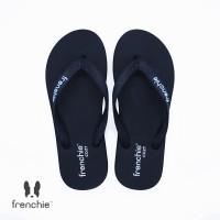 FRENCHIE Sandal Flip Flop All Black COZY SCM06