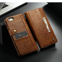 Wallet Case Iphone 6 Plus Leather Flip Cover Casing 6 Slot